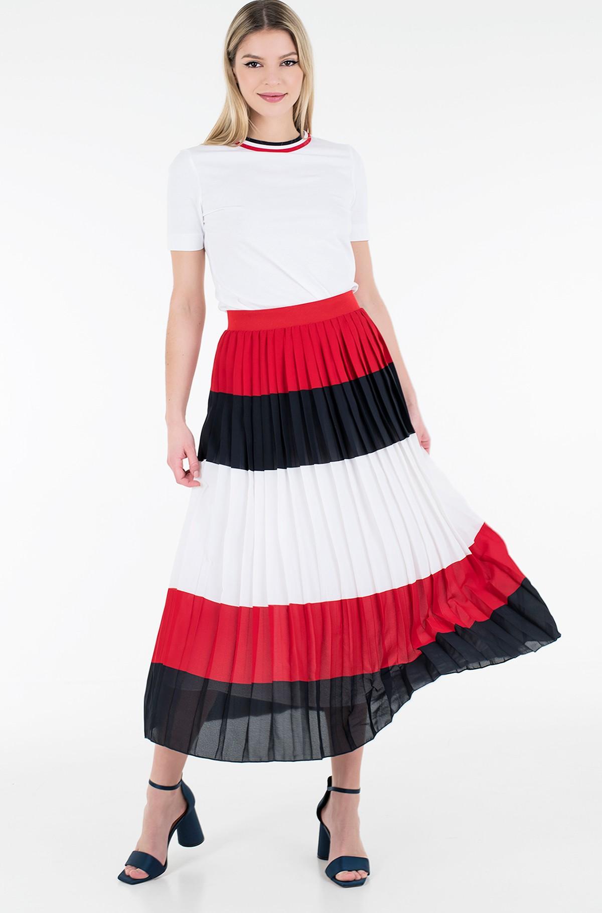 Skirt CREPE PLEATED MIDI SKIRT-full-2
