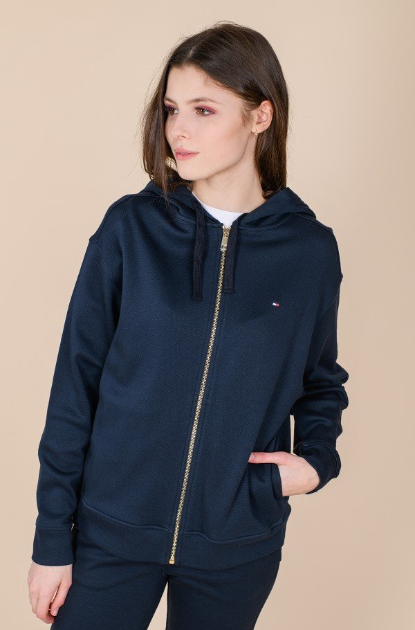 RELAXED ZIP-THROUGH HOODIE LS