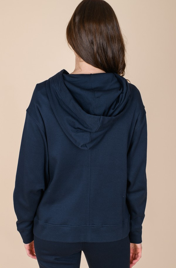 RELAXED ZIP-THROUGH HOODIE LS-hover