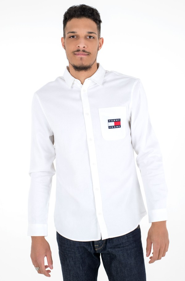 TJM BADGE TENCEL TWILL SHIRT