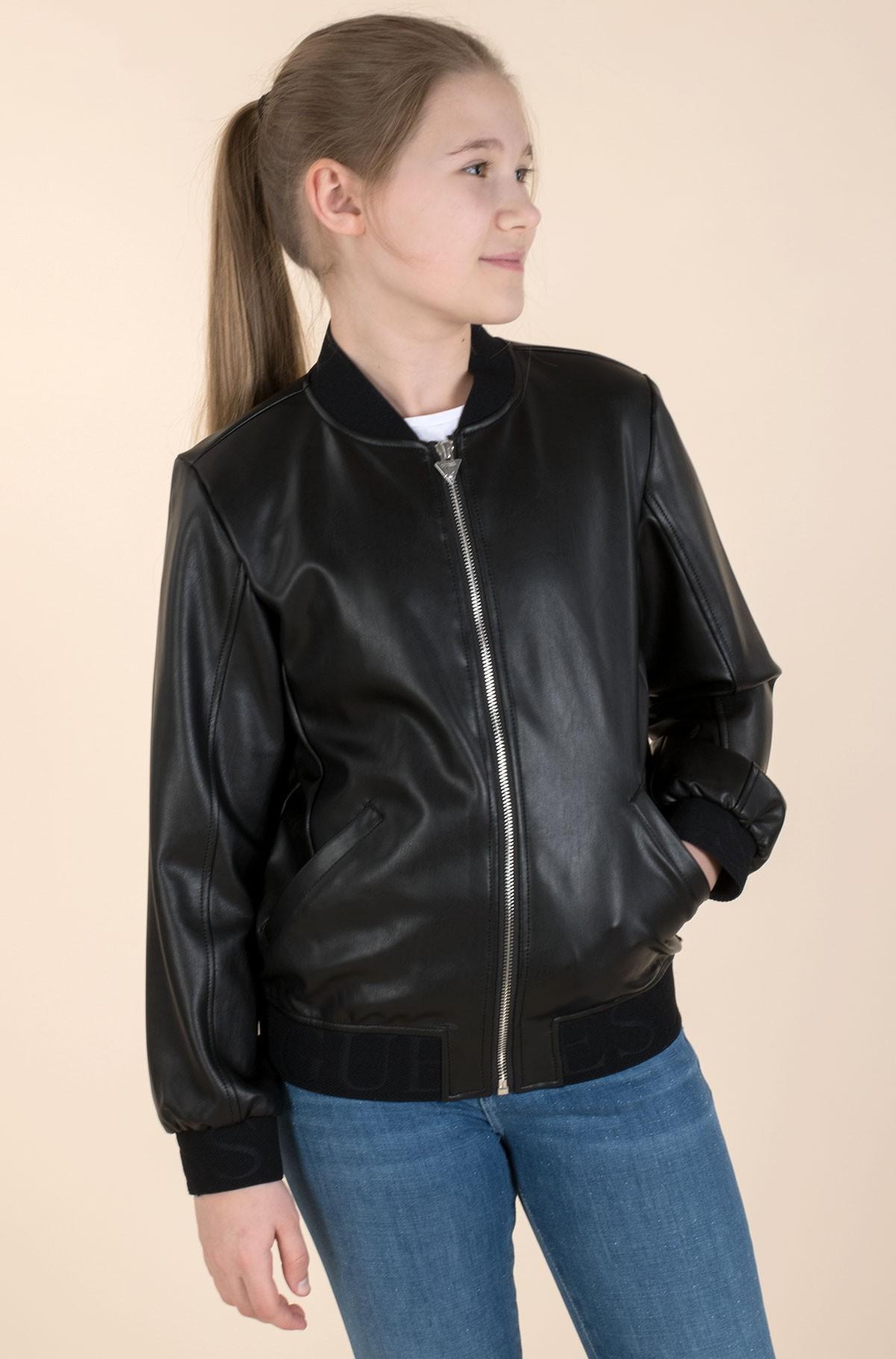 Children's leather jacket J1RL00 WBG60-full-2