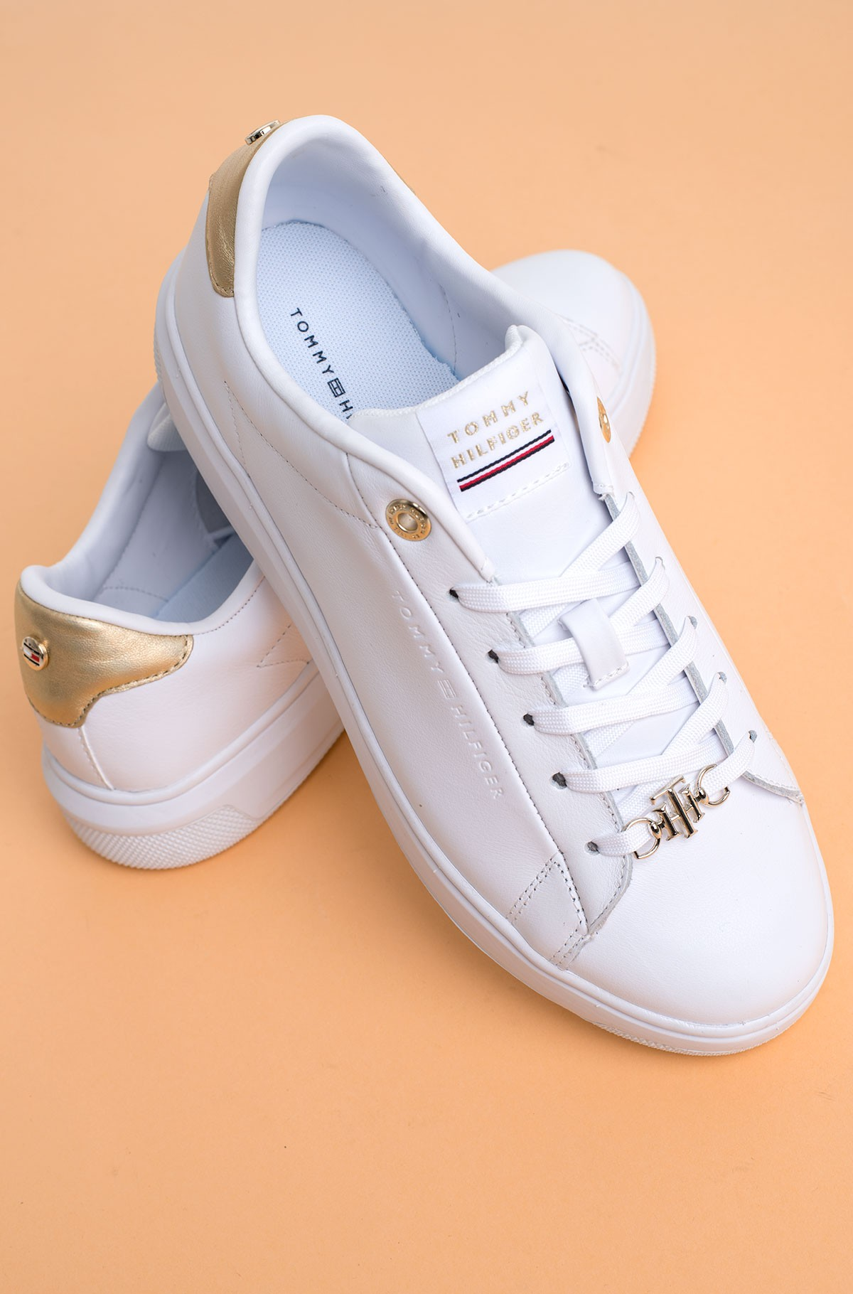 Casual shoes METALLIC LEATHER CUPSOLE-full-3