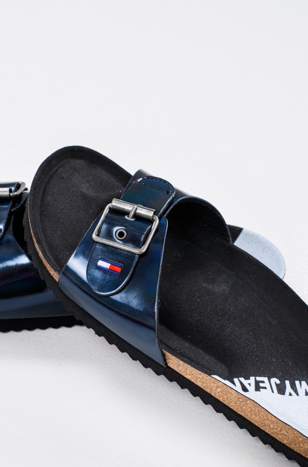 IRIDESCENT FLAT MULE-hover