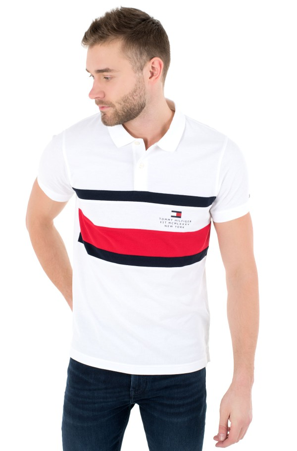 CHEST STRIPE SLIM POLO