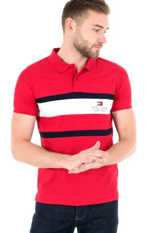 Polo krekls  CHEST STRIPE SLIM POLO-1