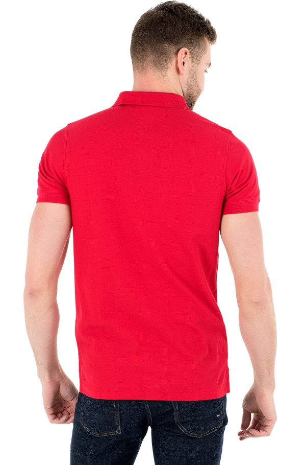 CHEST STRIPE SLIM POLO-hover