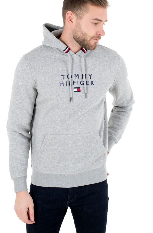 STACKED TOMMY FLAG HOODY