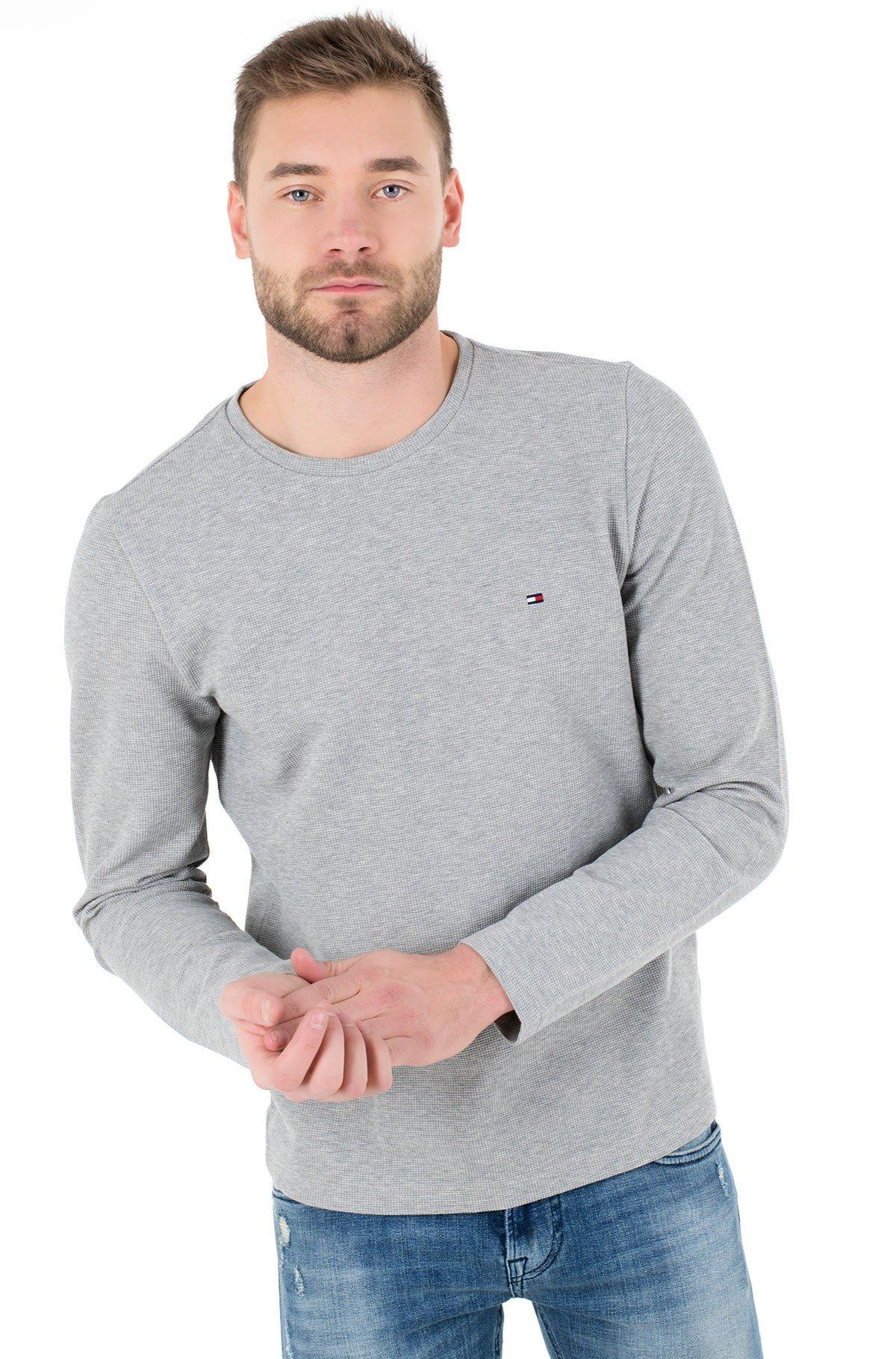 T-krekls ar garām piedurknēm  WAFFLE LONG SLEEVE TEE-full-1