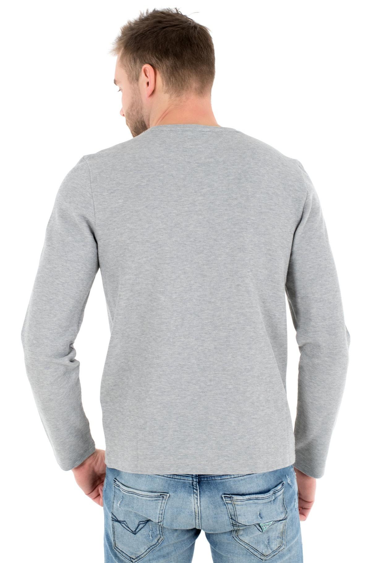 T-krekls ar garām piedurknēm  WAFFLE LONG SLEEVE TEE-full-2