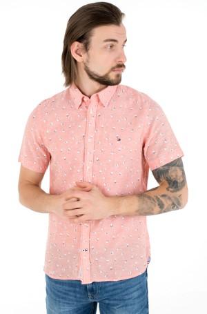 Short sleeve shirt SLIM CO/LI FLORAL PRT SHIRT S/S-1