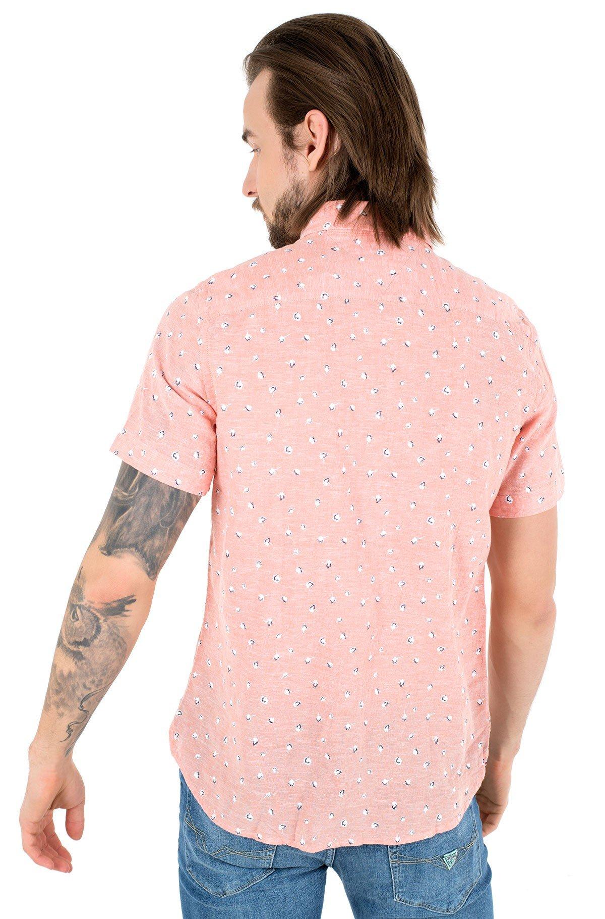 Short sleeve shirt SLIM CO/LI FLORAL PRT SHIRT S/S-full-2