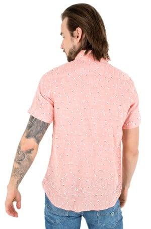 Short sleeve shirt SLIM CO/LI FLORAL PRT SHIRT S/S-2