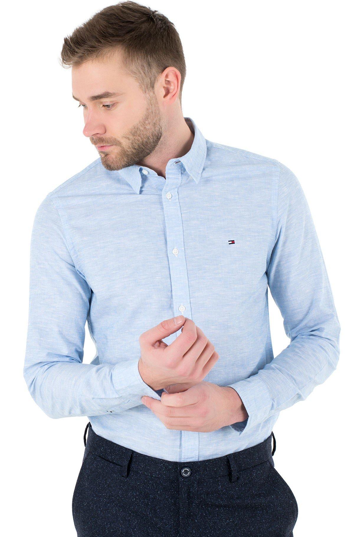 Shirt SLIM CO/LI FIL A FIL SHIRT-full-1
