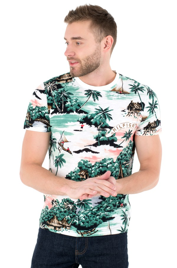ALL OVER HAWAIIAN PRINT TEE