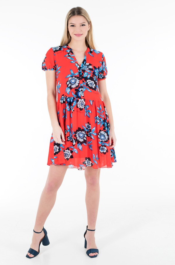 CHIFFON FLORAL F&F KNEE DRESS SS