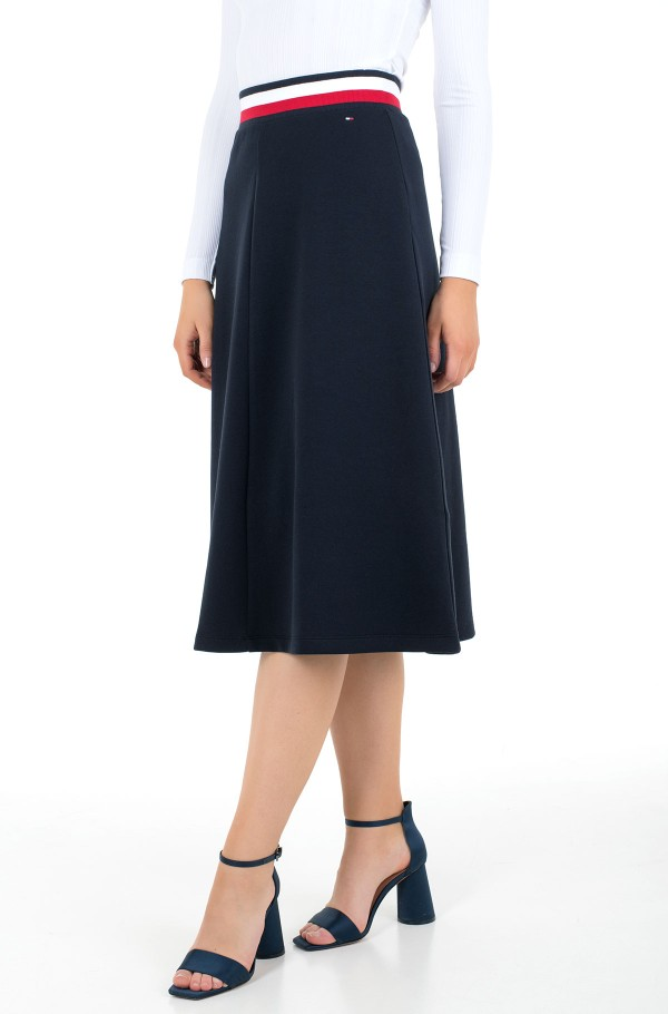 TH INTERLOCK MIDI SKIRT