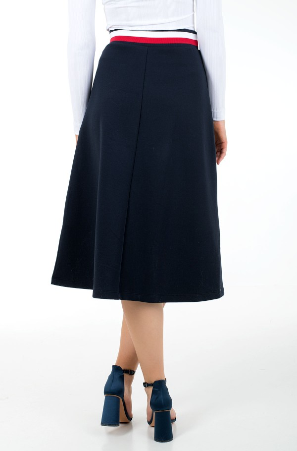 TH INTERLOCK MIDI SKIRT-hover