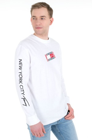 T-krekls ar garām piedurknēm  TJM SMALL FLAG BOX LOGO TEE-1