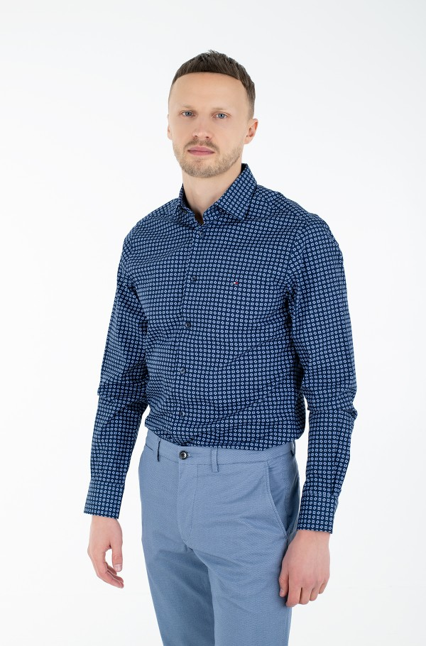 LARGE SQUARE DOT PRINT REG SHIRT