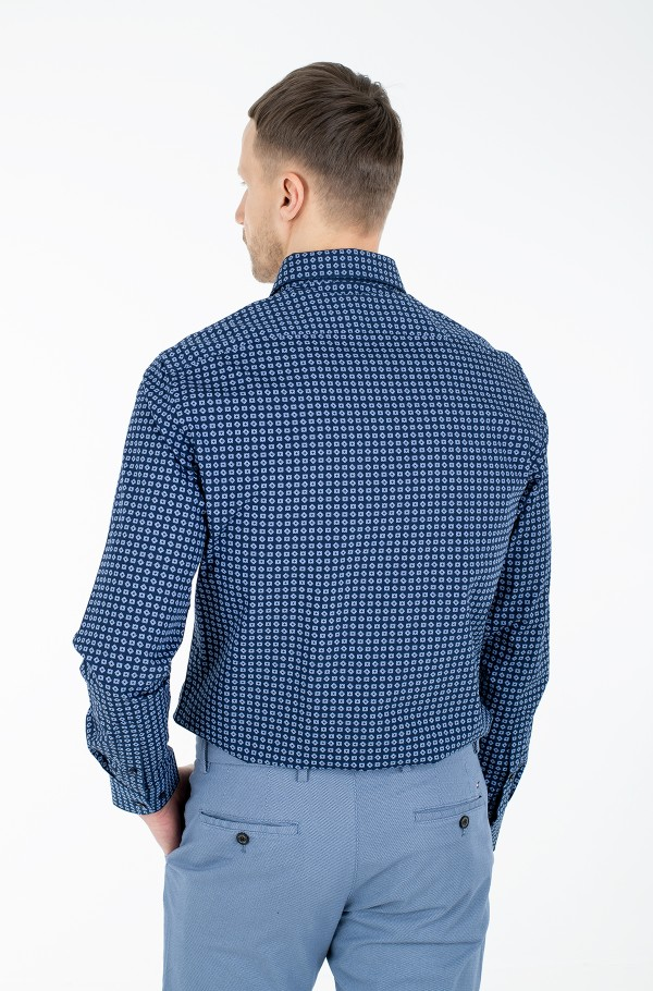 LARGE SQUARE DOT PRINT REG SHIRT-hover