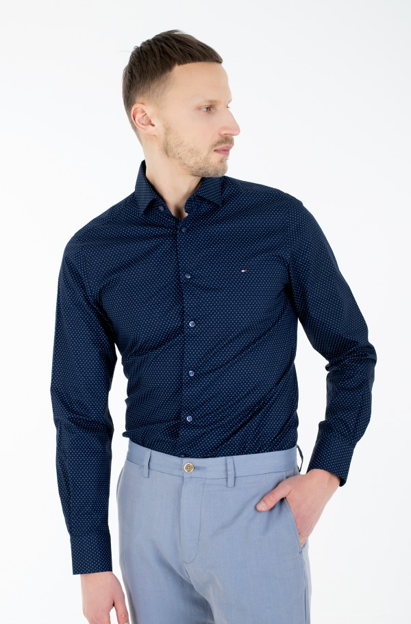 DOT PRINT SLIM SHIRT