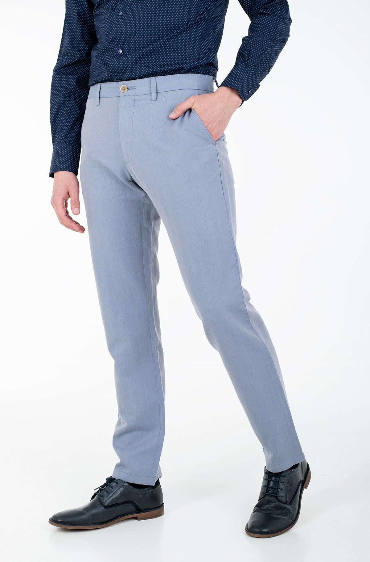 Fabric trousers DENTON HERRINGBONE LINEN-full-1
