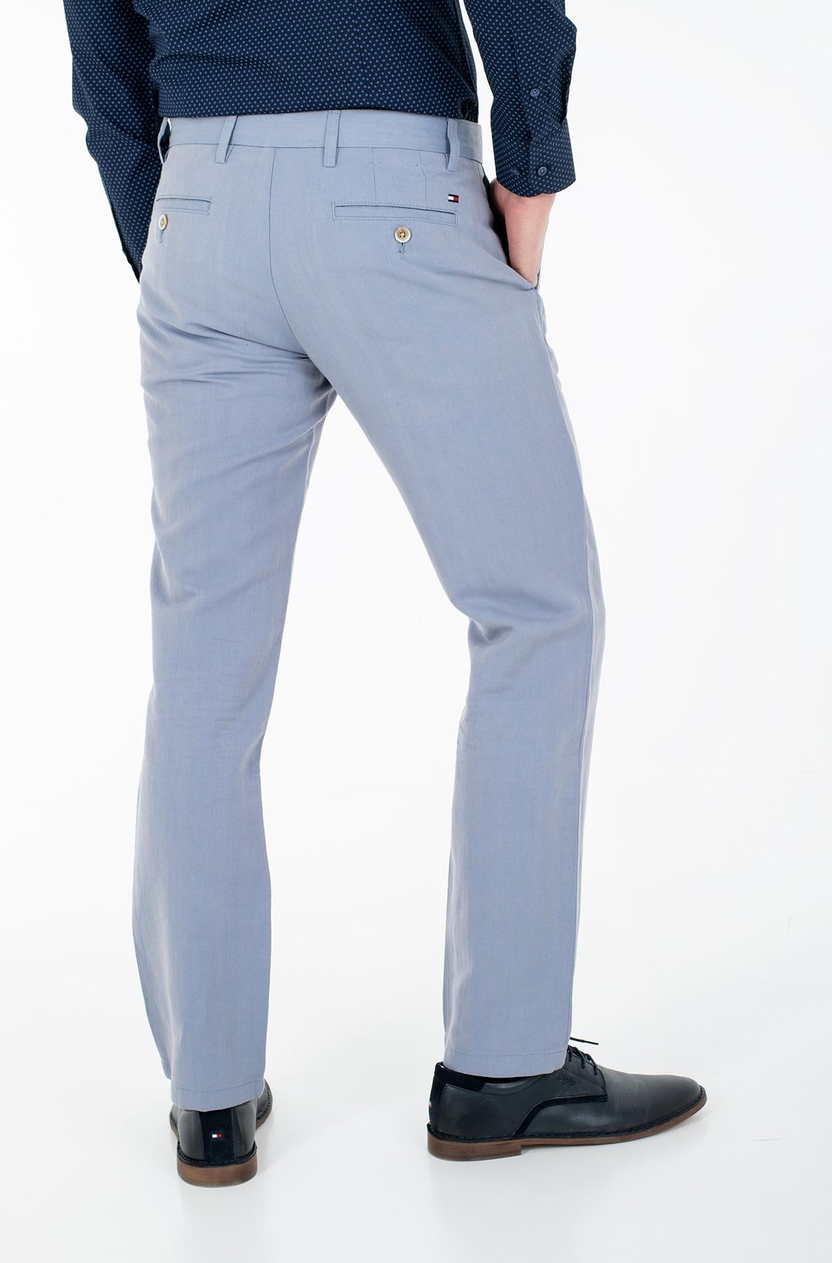 Fabric trousers DENTON HERRINGBONE LINEN-full-2