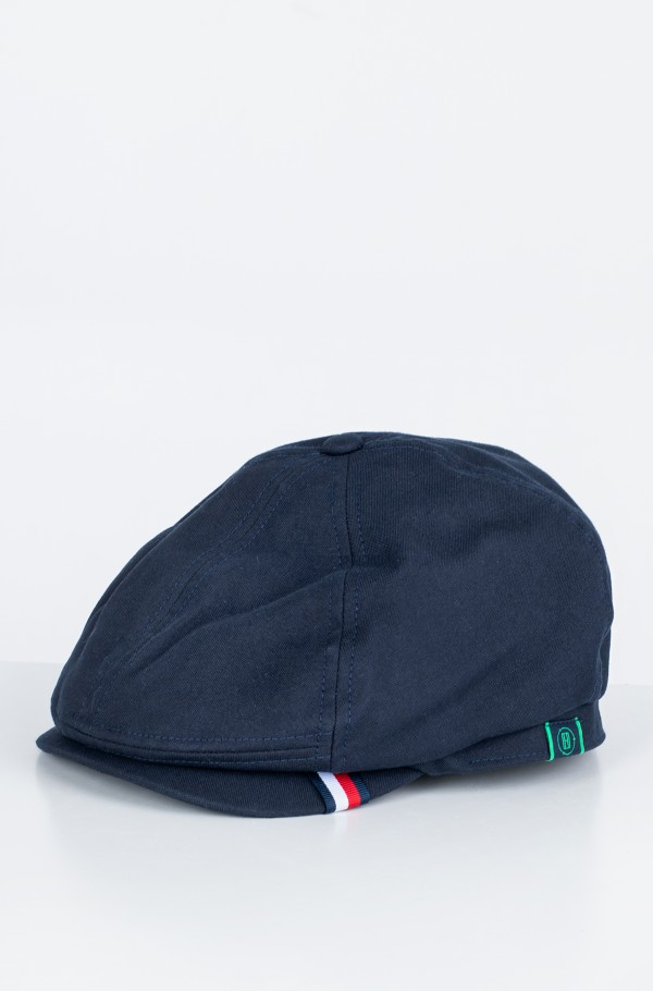 RECYCLED WOVEN FLAT CAP-hover
