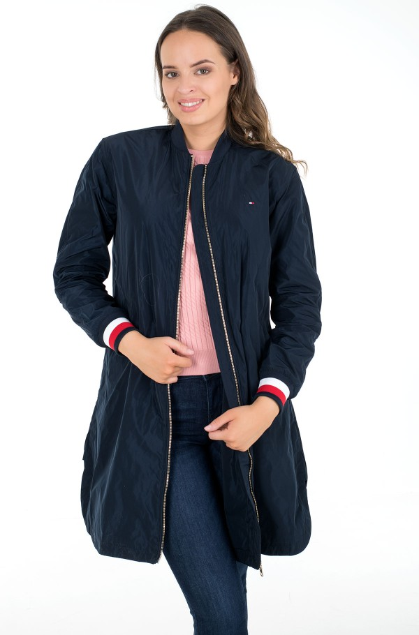 TH ESS POLY LONG BOMBER COAT