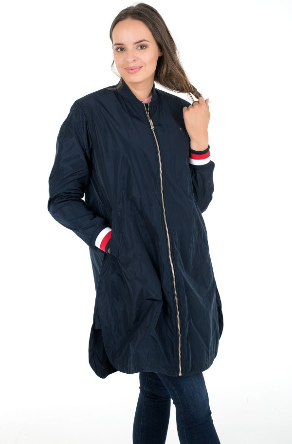 TH ESS POLY LONG BOMBER COAT-hover