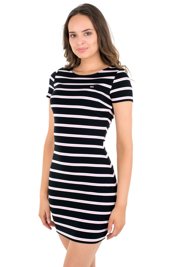 TJW STRIPED BODYCON DRESS