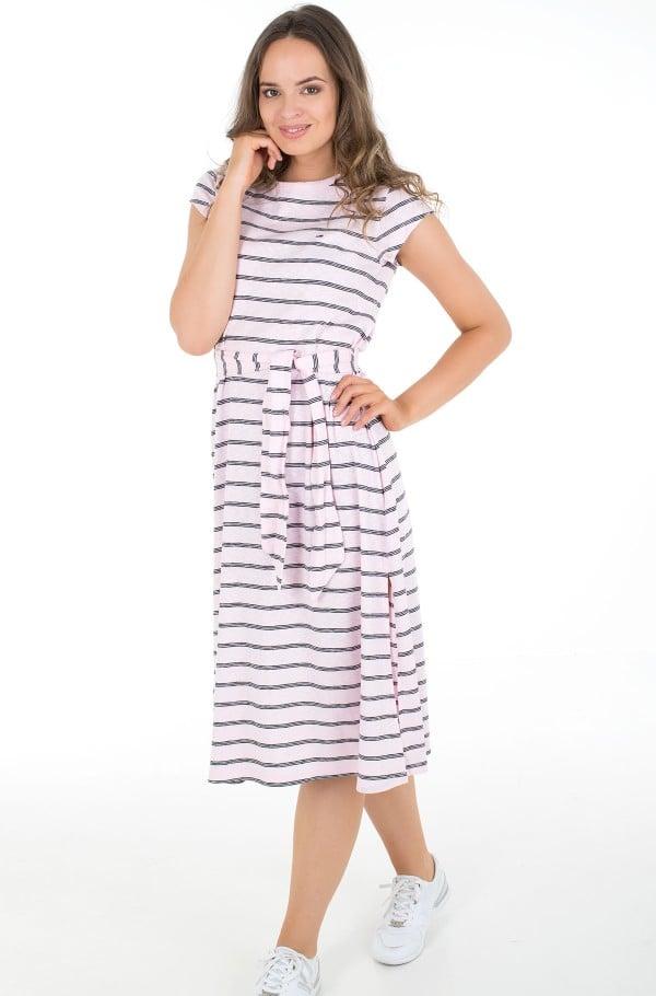 TJW BELTED STRIPE DRESS