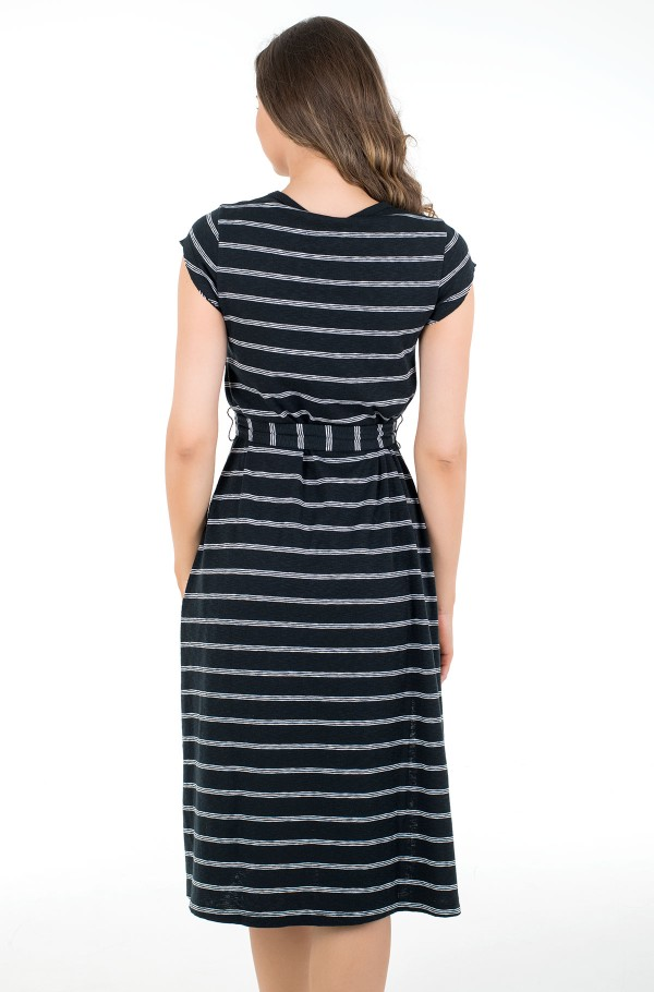 TJW BELTED STRIPE DRESS-hover