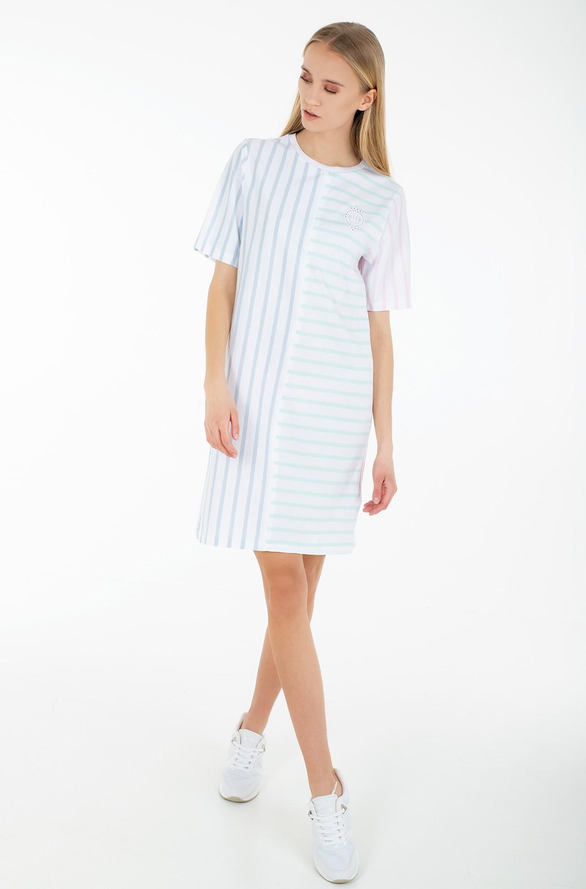 Dress ICON CLR BLOCK SHIFT SHORT DRESS-full-1