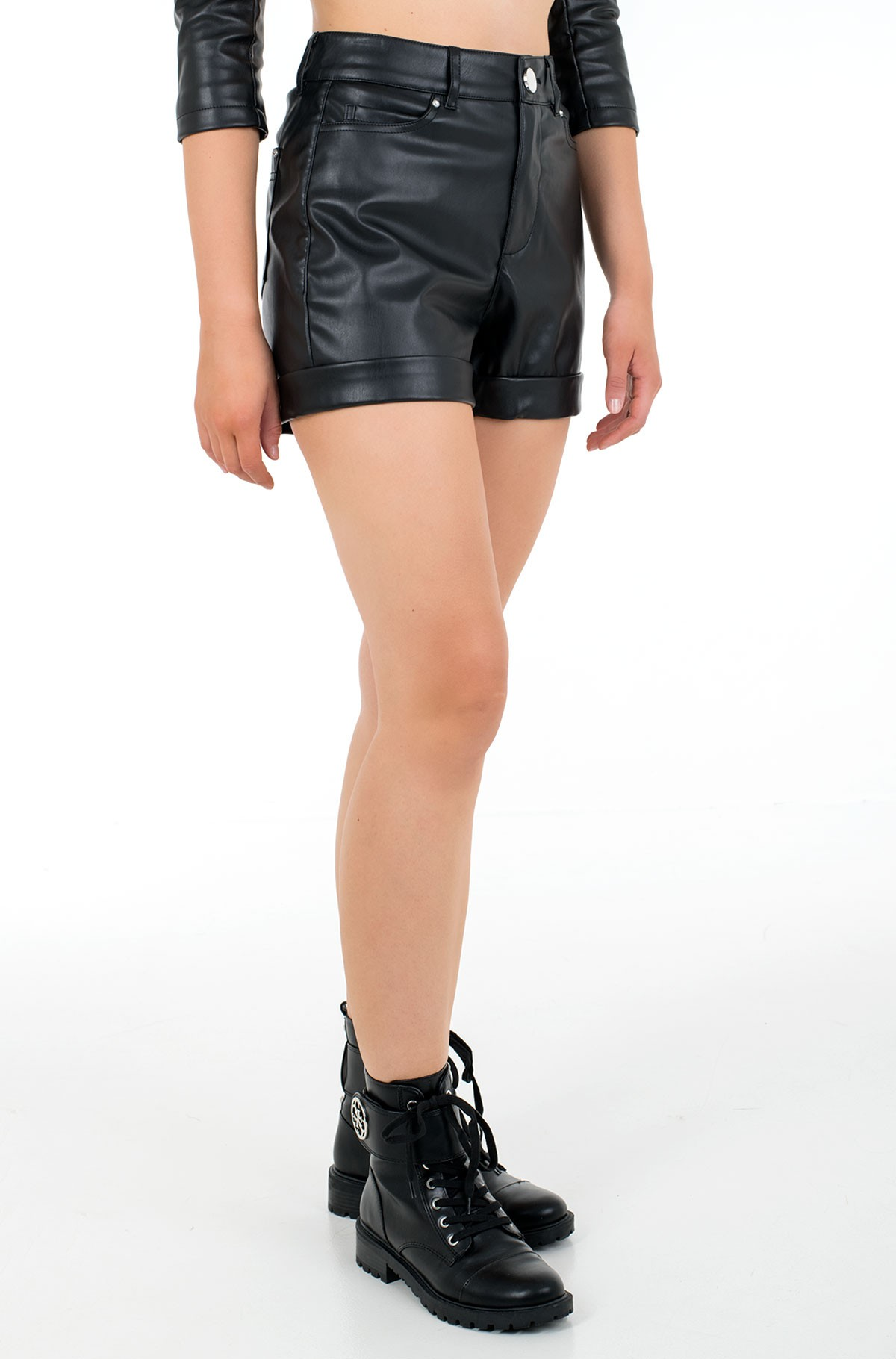 Leather shorts W1RD0H WAOO0-full-2