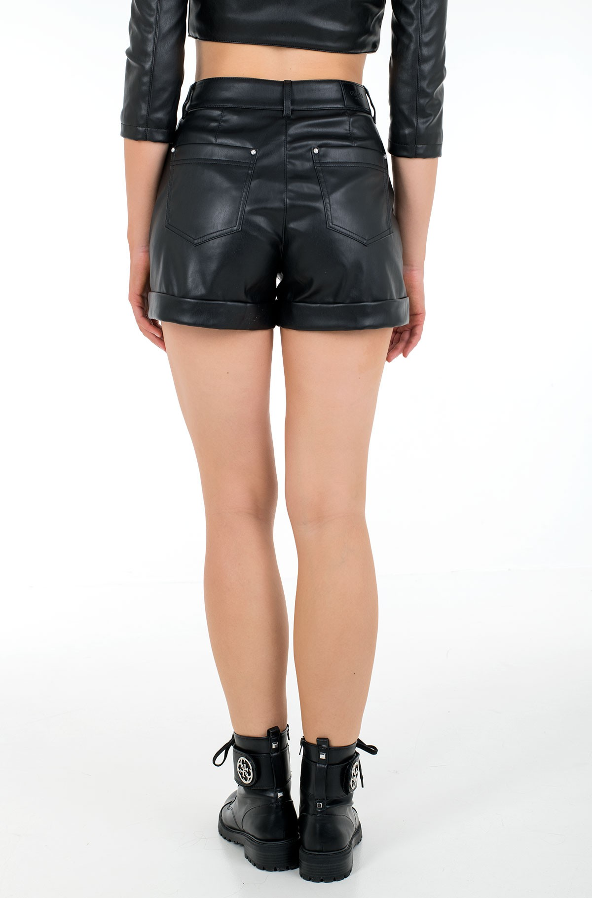 Leather shorts W1RD0H WAOO0-full-3