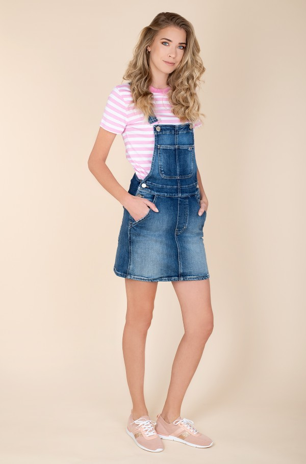 CLASSIC DUNGAREE DRESS AMBC