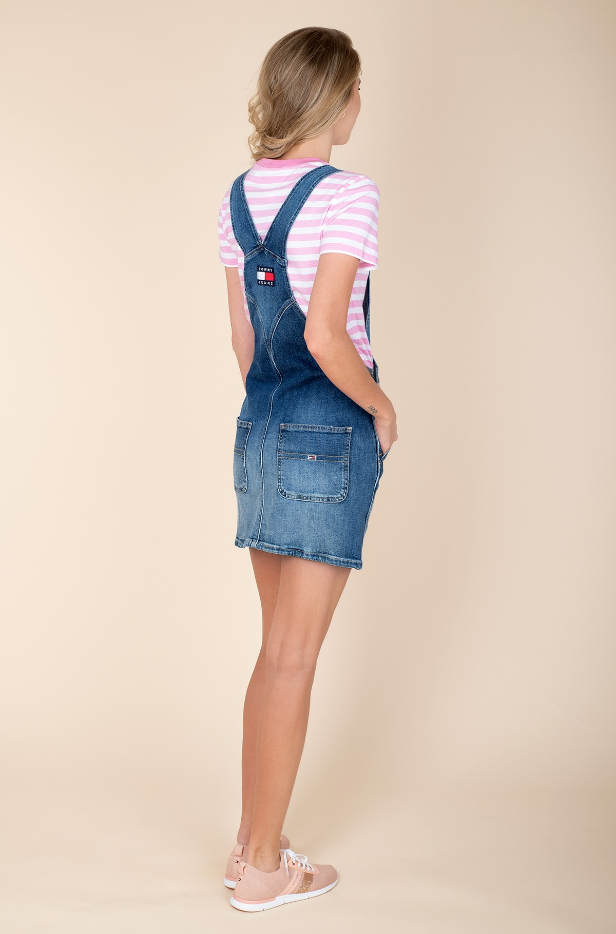 Denim dress CLASSIC DUNGAREE DRESS AMBC-full-2