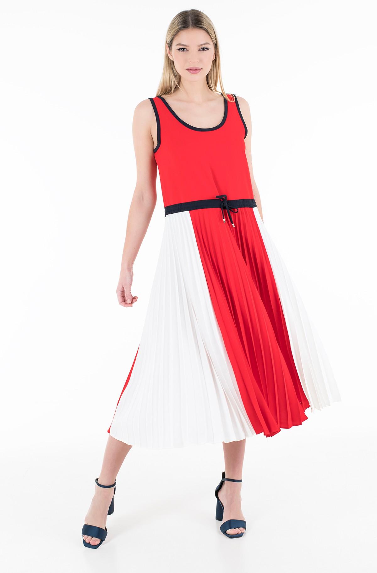 Dress TWILL F&F PLEATED MIDI DRESS NS-full-1