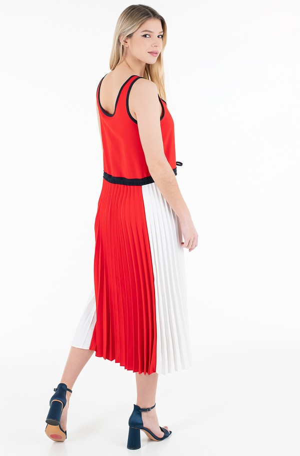 TWILL F&F PLEATED MIDI DRESS NS-hover
