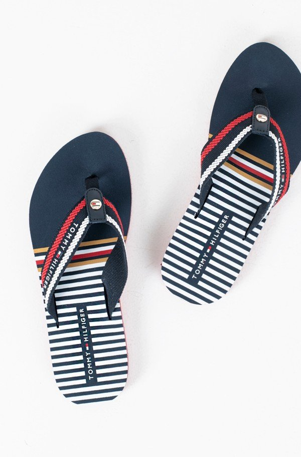 STRIPY FLAT BEACH SANDAL