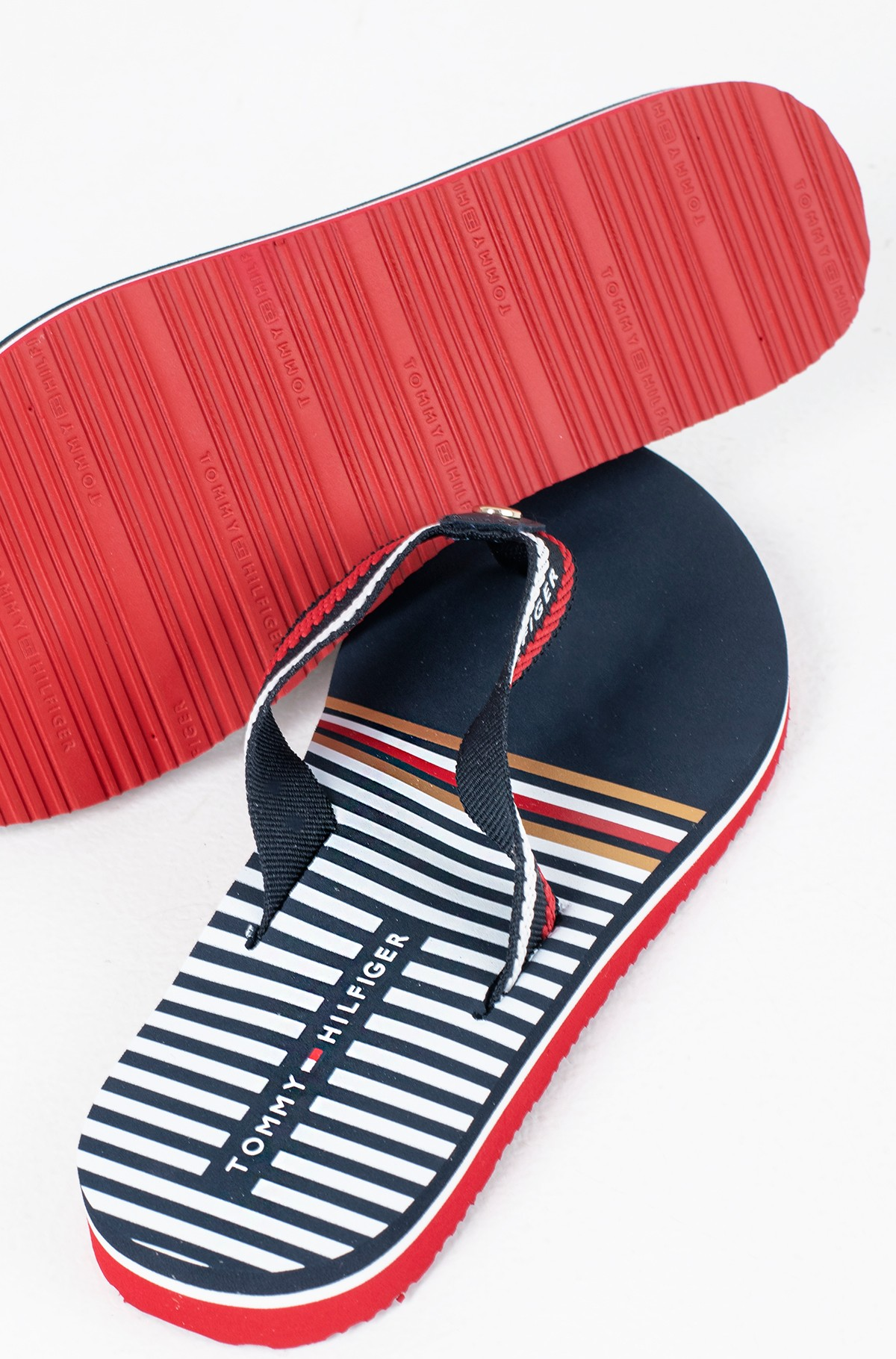 Plätud STRIPY FLAT BEACH SANDAL-full-3
