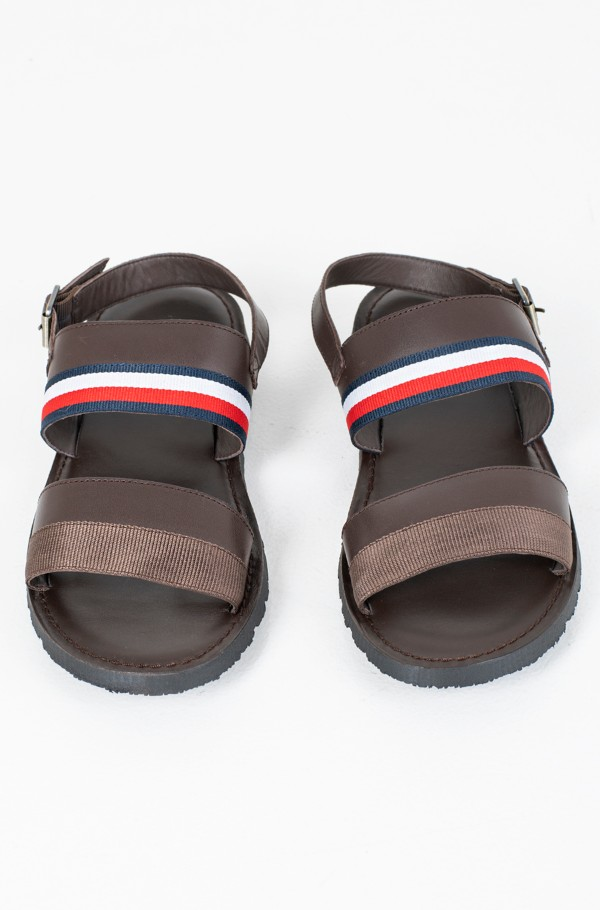 CORPORATE STRAP LEATHER SANDAL-hover