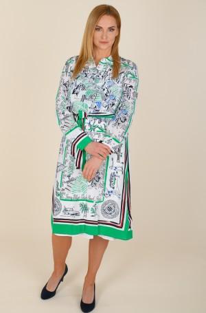 Dress SILK PRT KNEE SHIRT DRESS LS-1