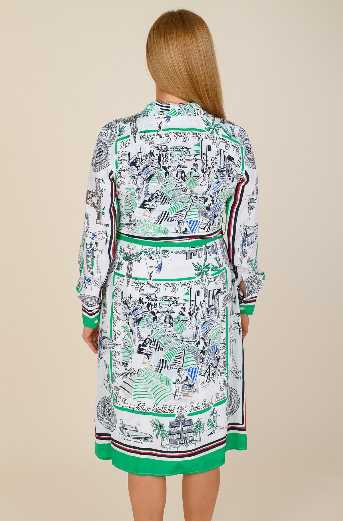 Dress SILK PRT KNEE SHIRT DRESS LS-full-2