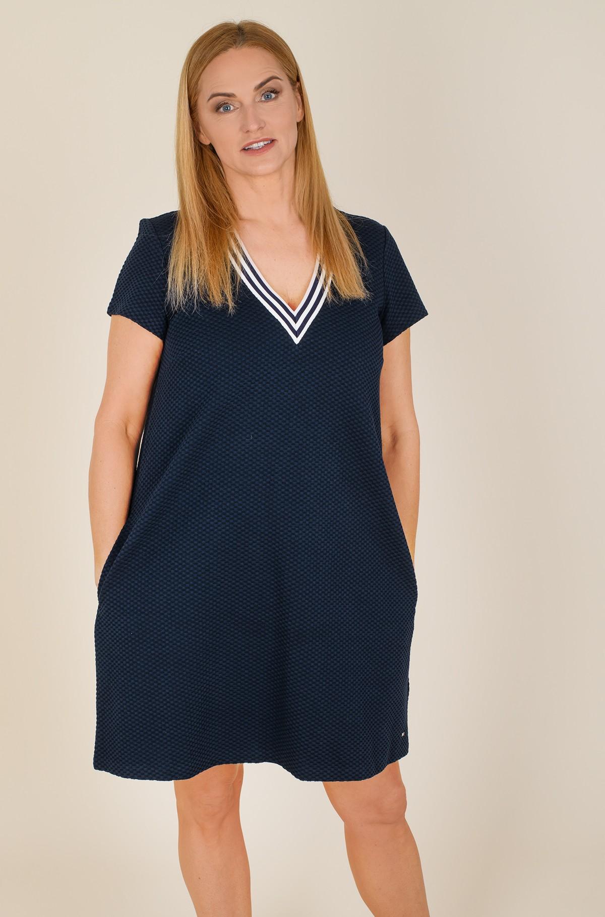 Kleit TEXTURED SHIFT SHORT DRESS SS-full-1