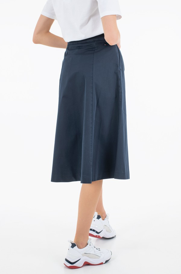 CO MODERN CHINO KNEE SKIRT-hover