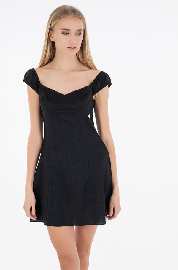 TEXTURED DRAPEY DRESS