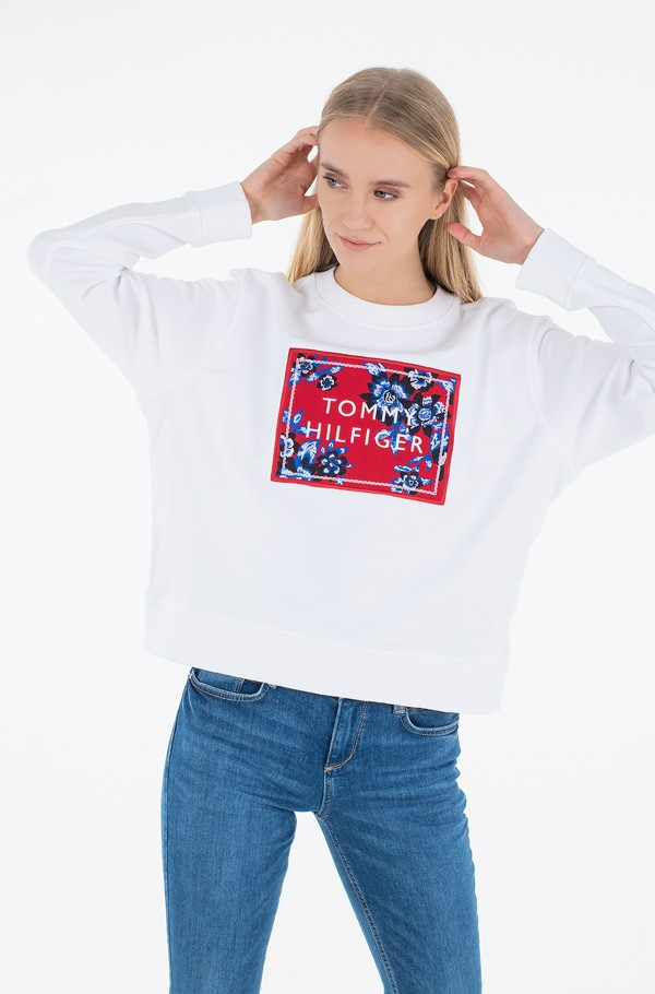 RELAXED FLORAL C-NK SWEATSHIRT