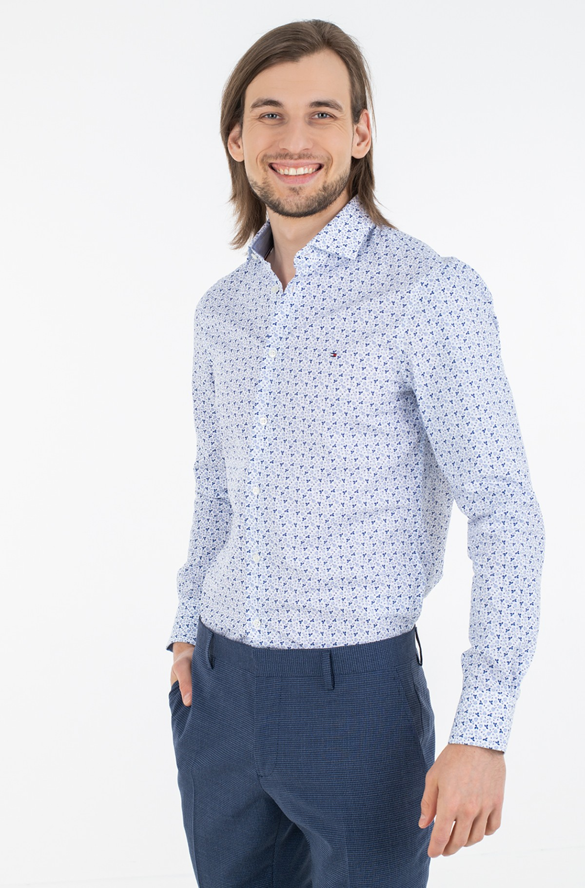 Shirt MINI FLORAL PRINT SLIM SHIRT-full-1